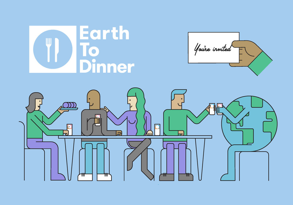 Earth-To-Dinner  Earth-To-Dinner founder Michael Hebb led us in an evening discussing climate change, while over 500 Earth-To-Dinner events dotted the globe on the same night.