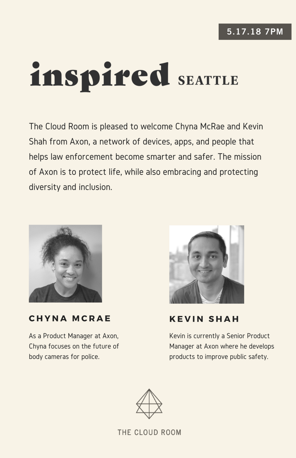 Inspired Seattle: Chyna McRae and Kevin Shah