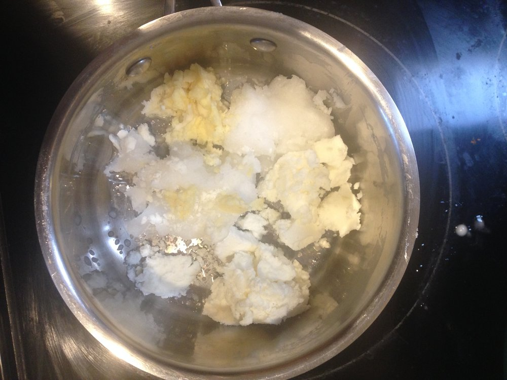 Melt Shea Butter and Coconut Oil