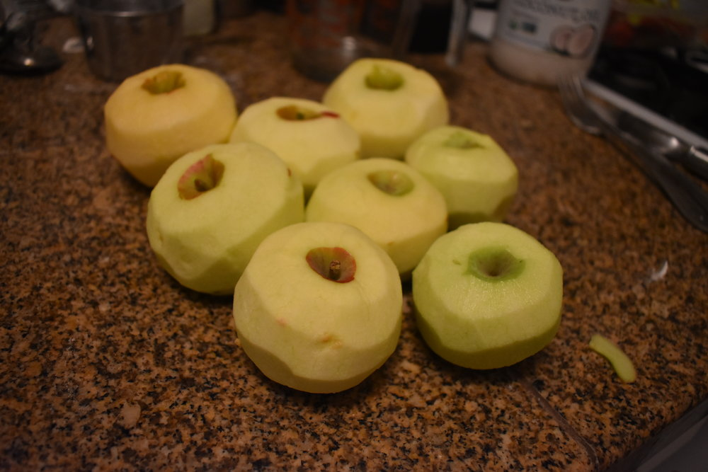 Peel, Core, and thinly slice apples