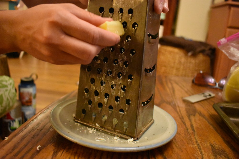 Heavily used cheese grater (for beeswax projects)