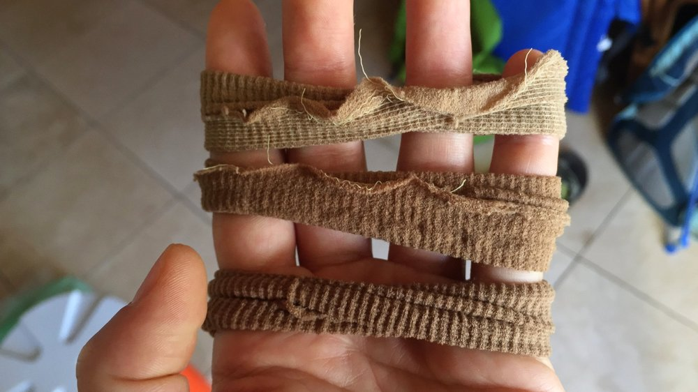 Hair ties made from pantyhose!