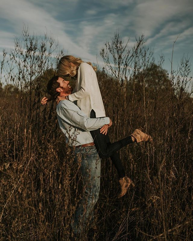 I still have grass in my shoes and mosquito bites from this session, but #worthit  Can't wait for @hayoathout & @austin_harrell7 wedding next summer!