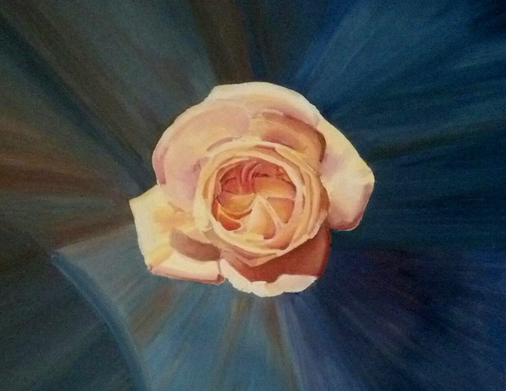 """""""Rosa"""", oil, 2018, 16"""" x""""20"""", $290    I have been inspired as of late to pay homage to my Italian Renaissance inspiration by listing recent titles in Italian."""