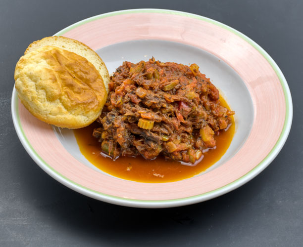 Braised beef and vegetable chili - with our house buttermilk biscuitsNF. or try our grain free DF almond-coconut biscuits*Small- $8 (16 oz. Chili, 1 buttermilk biscuit) + $2 to sub the grain free biscuit*Large- $14 (32 oz. Chili, 2 buttermilk biscuit) +$4 to sub the grain free biscuit*2 Large packed together for one reduced price- $26 +$8 to sub the grain free biscuits*For a Vegan version of the chili we'll Sub with jackfruit and hempfu and our multi-seed vegan roll- same price as buttermilk biscuit