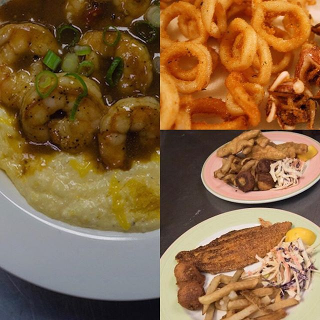 Sneak peak of Friday Night Fish Fry Menu....Shrimp and Grits, Fried Calamari, Fried Perch Dinner, Fried Catfish Diner...Who's excited?! #fishfryfriday #fishfry #whatceliacseat #glutenfreelife #glutenfreeliving #wheatfree #celiac #celiacdisease #nogluten #glutenfreefood #glutenfreediet #buzzfeedfood #gfliving #allthingsgf #sansgluten #glutenfreefoodie #glutenfreeeats #celiaclife #glutenfree #forkyeah #instayum #meandgfree #foundonfmgf #glutenfreelifestyle #glutenfreetravel #glutenfreelife #glutenfreefood #glutenfreefoodie #gftravel #glutenfreefollowme #localcle #thisiscle