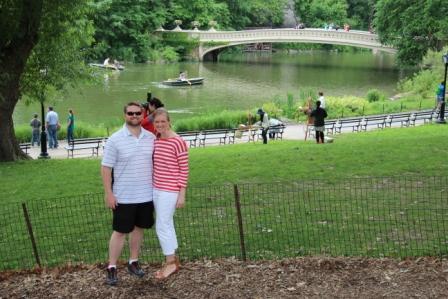 LPR Director of Strategic Development Amanda Hill with her husband, Erik, New York City 2014