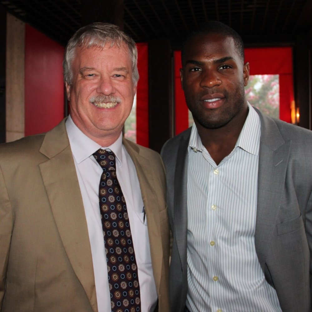 DeMarco Murray and Blake Lewis at the DeMarco Murray Foundation