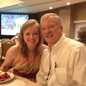 Amanda Lewis Hill and Blake Lewis at PRSA Leadership Rally 2014