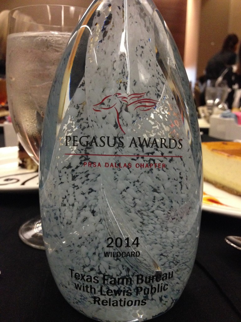 Lewis Public Relations wins 2014 Pegasus Award from PRSA Dallas