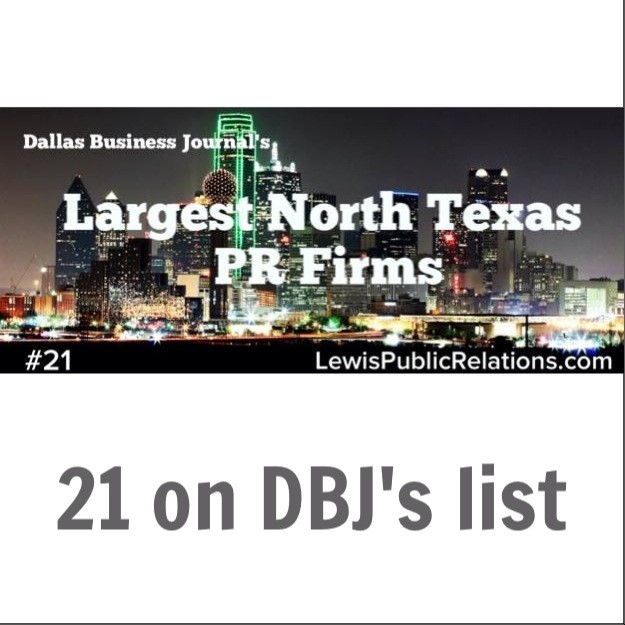 LPR on Dallas Business Journal's List of North Texas PR Agencies