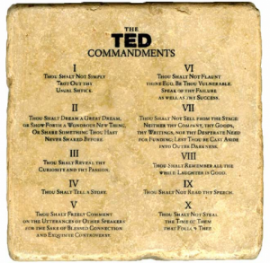 TED Commandments by Chirag Chamoli