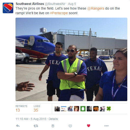 Southwest Periscope Teaser with Rangers