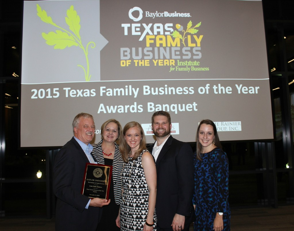 Lewis Public Relations at Texas Family Business Awards