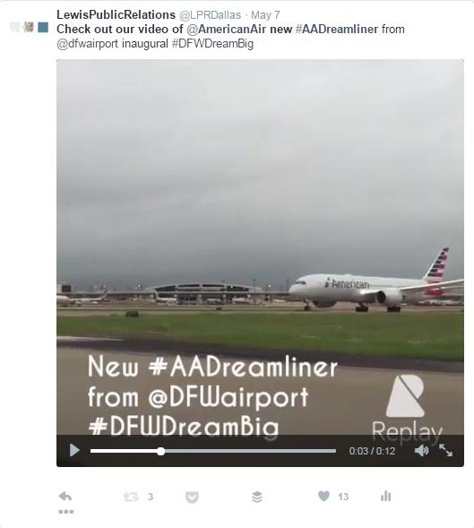 AA Dreamliner tweet