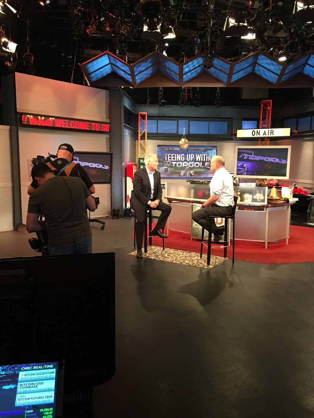 On set at Mad Money inside the CNBC studios