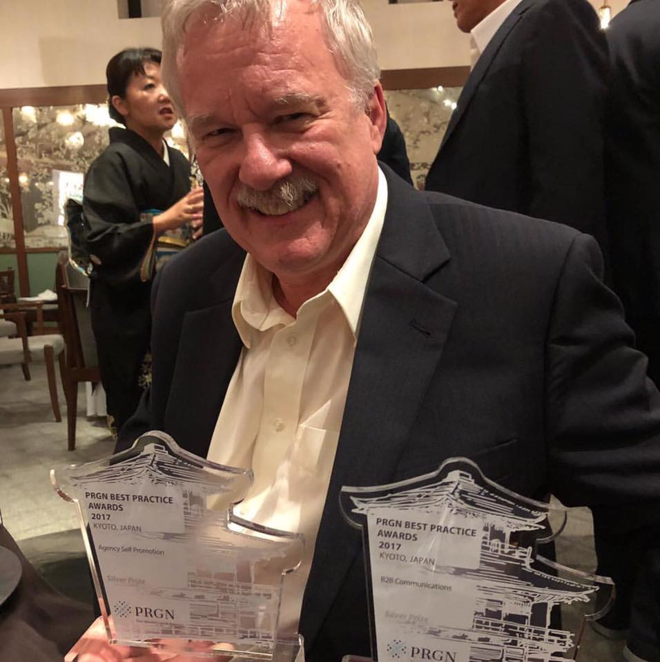 Blake accepted multiple PRGN Best Practice Awards on behalf of Three Box ... from Japan !