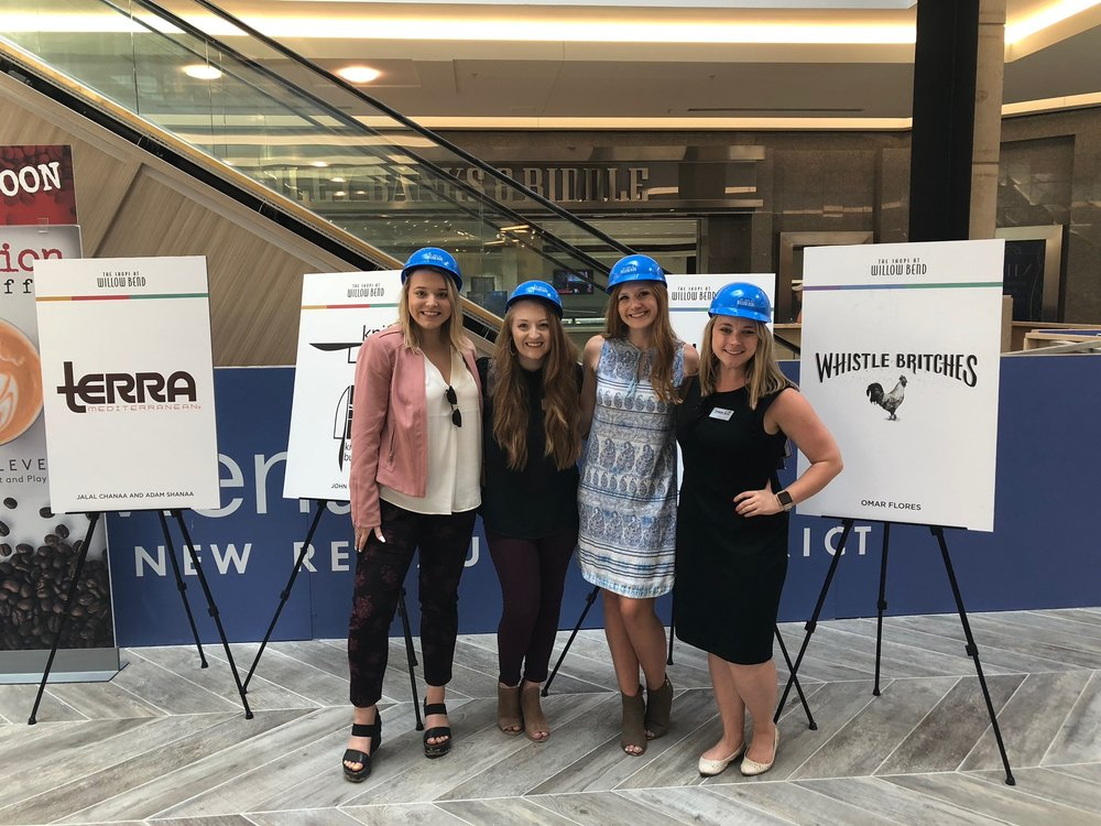 Our team organized a media hart hat tour for the new Restaurant District at the Shops at Willow Bend.
