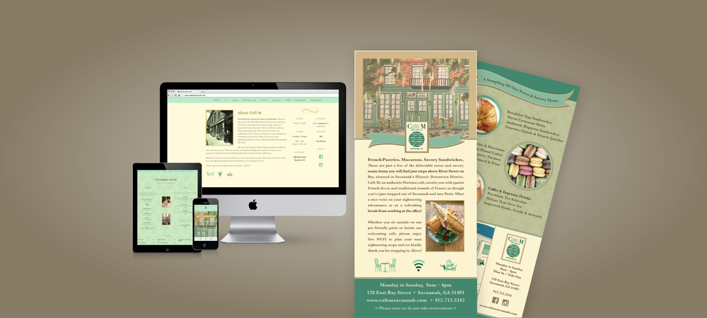 Café M | Savannah // Website Design