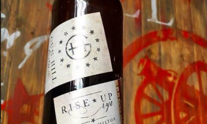 New York's Gun Hill Brewery has just released Rise Up Rye, a new beer inspired by the Broadway hit  Hamilton .