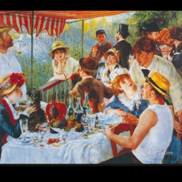 """Print of """"Luncheon of the Boating Party,"""" by Pierre Auguste Renoir. Original is in the Phillips Collection, Washington, D.C."""
