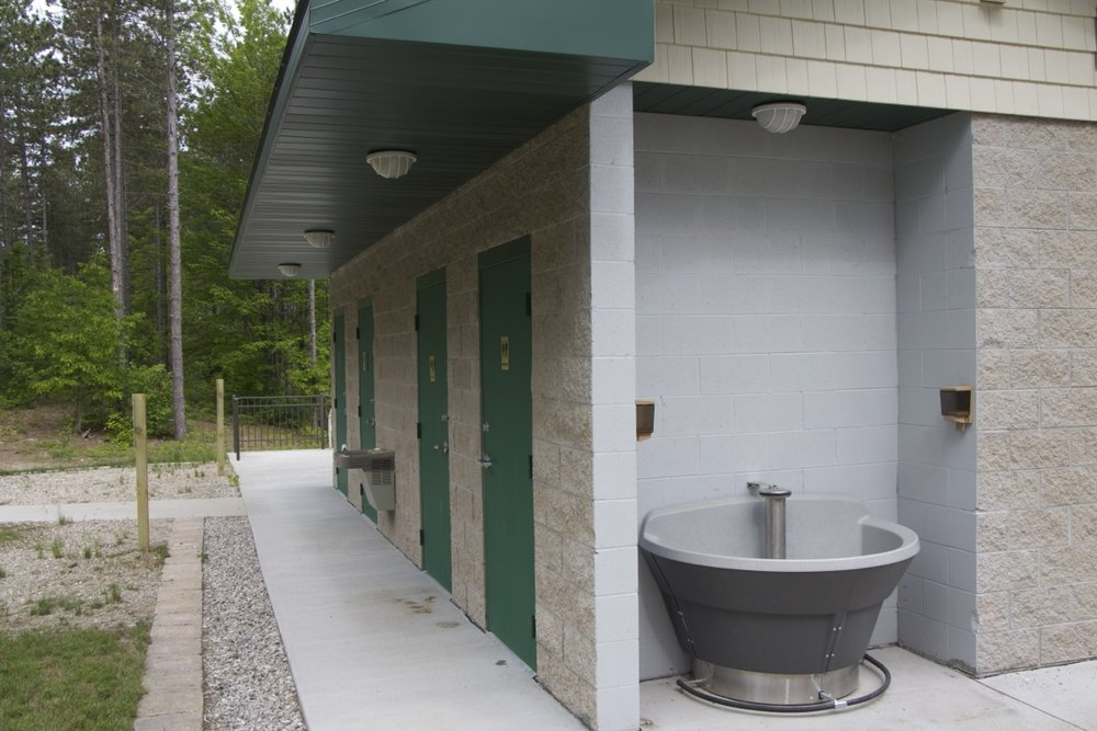 REST ROOMS, SHOWERS,  & WASH STATION  Beautiful, clean, new shower, rest rooms, and wash station facilities on-site.