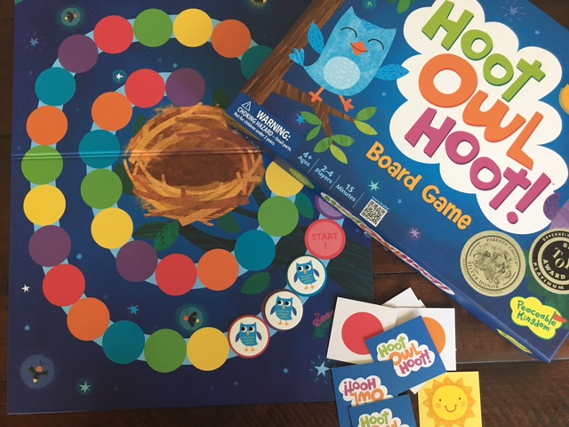 - The Hoot Owl Hoot Board Game uses knowledge of colors to move around the board.
