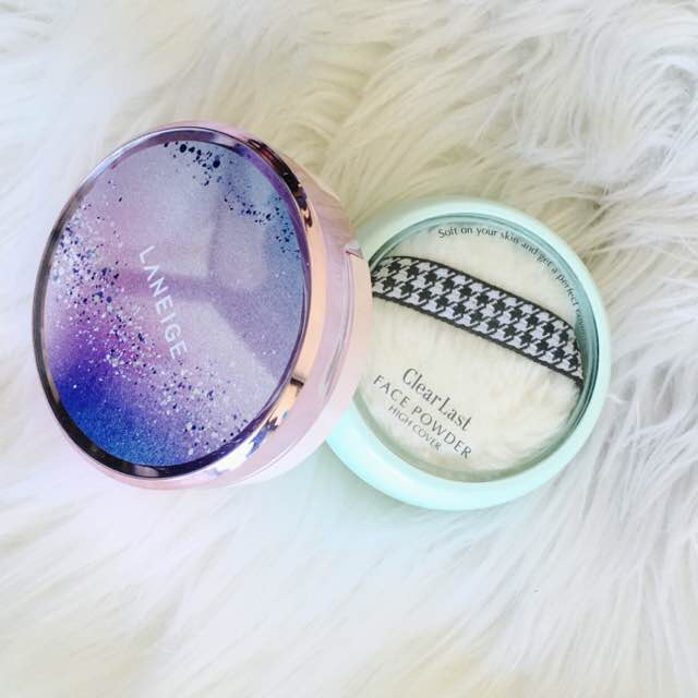 Laneige BB Cushion (21) + Clearlast Face Powder Medicated