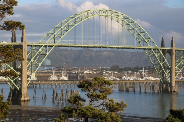 The bridge leading out of Florence, one of the many beautiful bridges we viewed along the Oregon Coast!