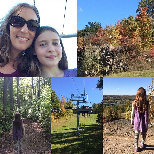I really enjoyed spending some one on one time with my eldest over the weekend at the #kelsoconservation area, as part of the #fallintonature event. Eloise thoroughly enjoyed her first chairlift ride, and we love living so close to so many gorgeous conservation areas! #fallfun #qualitytime #oneonone #getoutside #miltonontario #haltonconservation #fallleaves #hike
