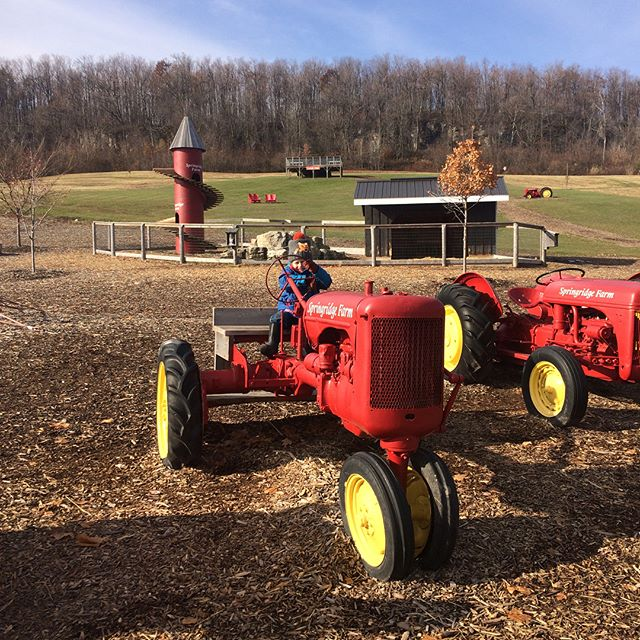 We had a blast at @springridgefarm this morning! We met up with a local homeschool group and had so much fun exploring. Free admission for Nov & Dec doesn't hurt either! #farmday #farmvisit #miltonontario #tractor #homeschooling #homeschoolingfamily #fulltimerv #fulltimervfamily #ontario