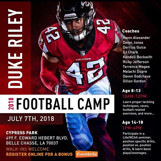 Next Saturday July 7th!!!! Register online for a BONUS, Walk-Ins are welcomed!! Link In Bio!!