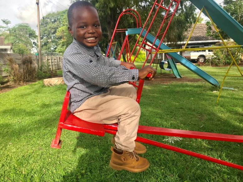 6 Feb 2019 update - Kudakwashe is still in preschool. He is expected to start primary school next year. He seems to love his school.