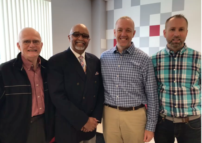 (left to right) Former DBA DIrectors of Missions: Rev. Mal Utleye and Rev. Mitch Dowell, along with current Associational Church Catalysts: Rev. Champ Thornton and Rev. Drue Matthews.