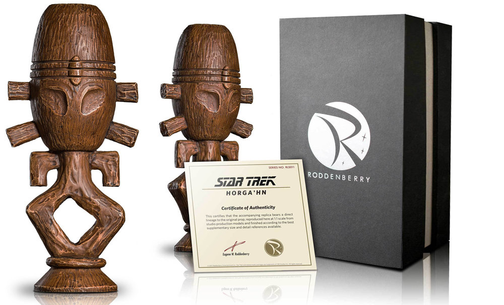 HORGA'HN Prop Replica - Available from Roddenberry Entertainment Retail Value: $250