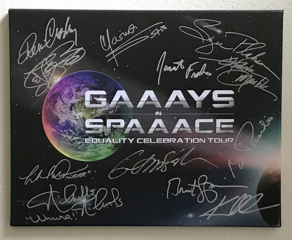 EXCLUSIVE 'GIS' CANVAS - Autographed by at least a dozen or so of the STAR TREK Celebrities who'll be sailing with us.NOT AVAILABLE AT A RETAIL PRICE