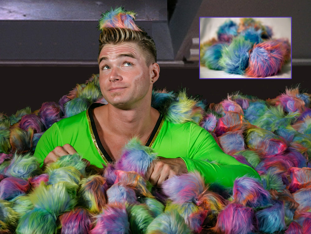 'GIS' MASCOT THE RAINBOW TRIBBLE - The most adorable being to come out of the closet since Matt Bomer. RETAIL VALUE: $20