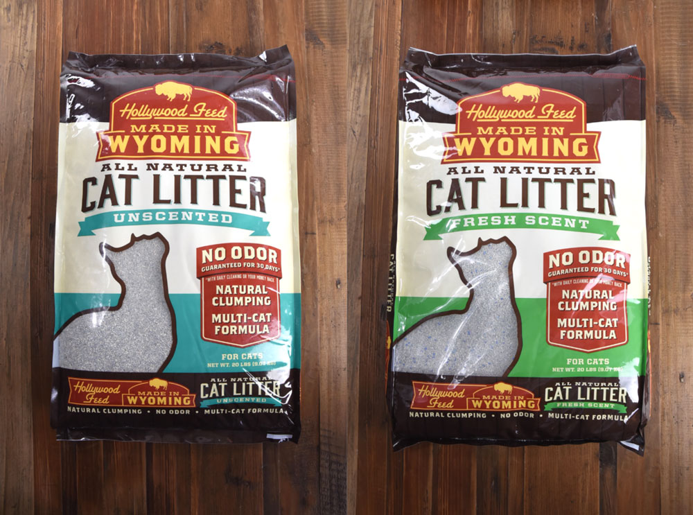 Cat Litter packaging for Hollywood Feed