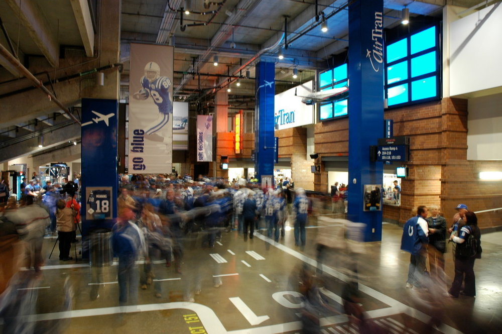 AirTran Airways branded concourse in Lucas Oil Stadium - Indianapolis, IN