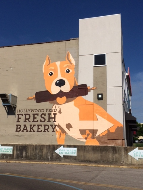 Mural design for dog biscuit bakery in Memphis, TN