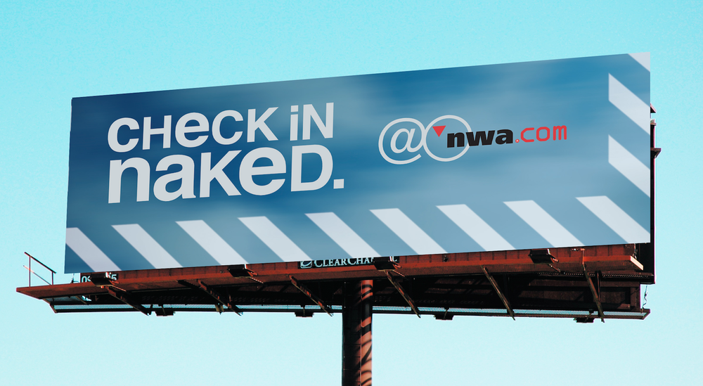 Outdoor advertisement for Northwest Airlines