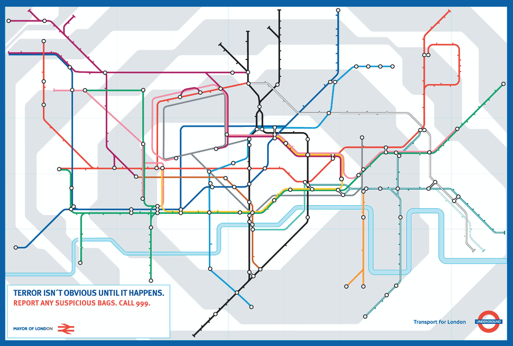 One in series of posters for London Underground