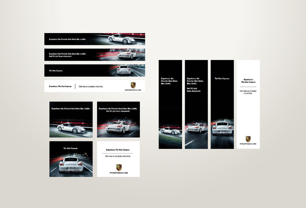 Banner campaign for the Porsche Cayman