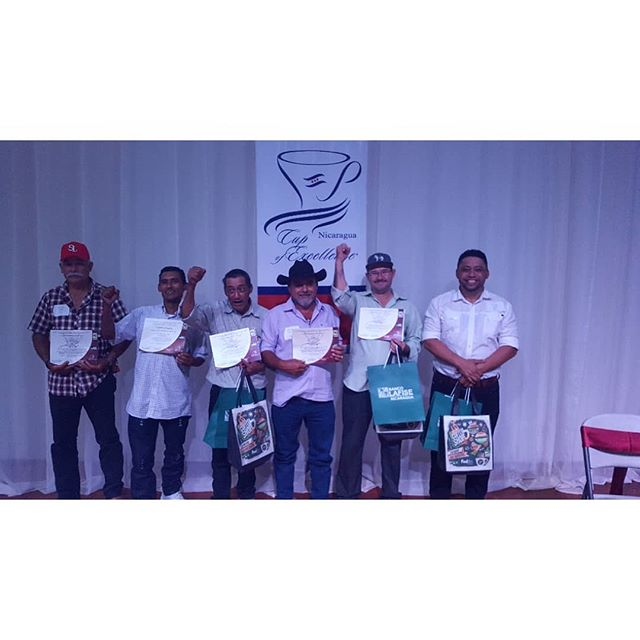 CONGRATULATIONS to the 5 producers who won Cup of Excellence this year. Greatness is achieved through perseverance, collaboration and passion. We are proud to represent these farmers.  #35 Roger Esau Herrera Ortez  #28 Leonel Valladarez #19 Felix Pedro Siles #17 Erwin Obel Garcia  #08 Ignacio Estrada Burgos  #coffee #specialtycoffee #nicaragua #nicaraguacoffee #perfectdailygrind #baristadaily #allthingsoffee #barista #roaster #coffeegram #thirdwavecoffee #coffeeroaster #coffeefarmer #coffeetrade #coffeeinnovation #directtrade #relationshipcoffee #expocamo #coffeeculture #coffeetime #cupofexcellence #tasadeexcelencia #coenicaragua2018