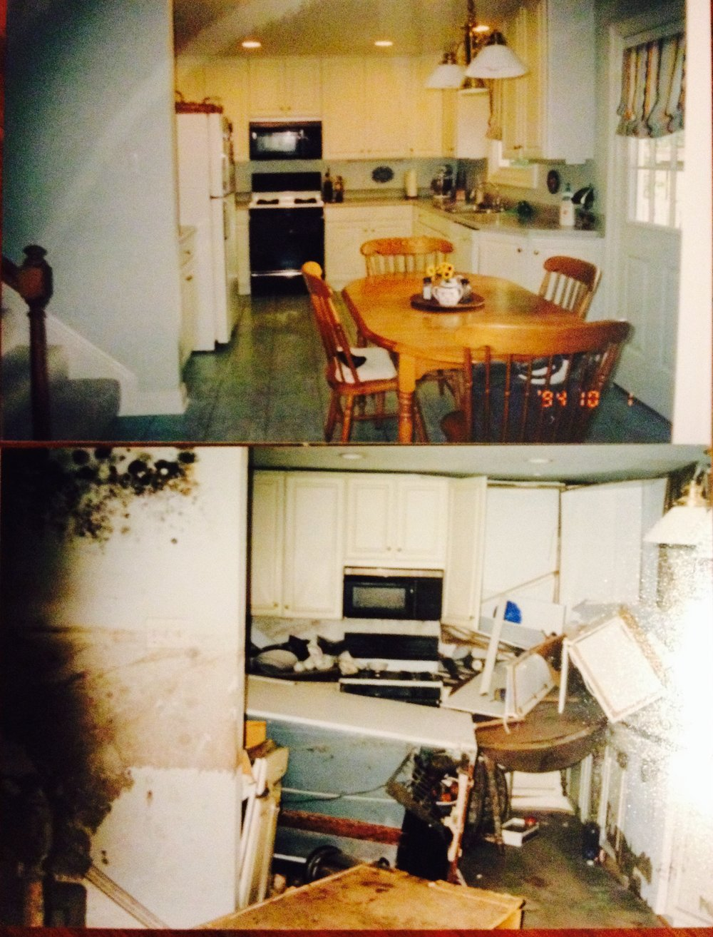 Kitchen Pre and Post Katrina, Lakeview, New Orleans