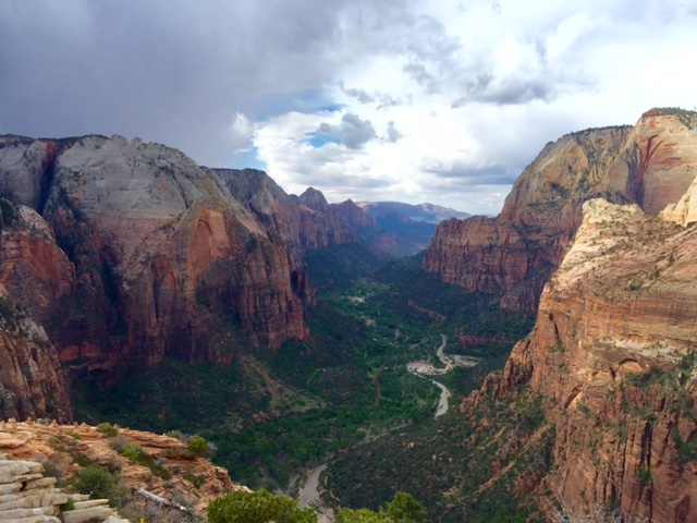 View from Angels Landing, Zion National Park, Utah