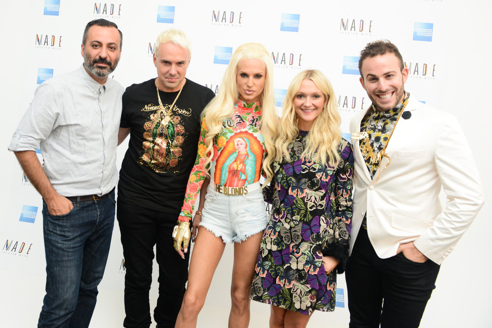 Mazdack Rassi, David Blond, Phillipe Blond, Zana Rassi, and Micah Jesse