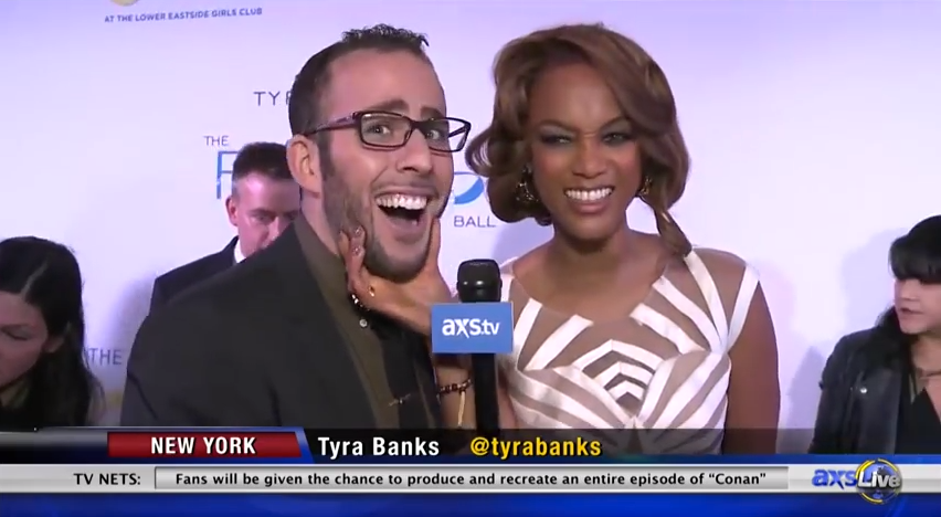 Micah Jesse and Tyra Banks