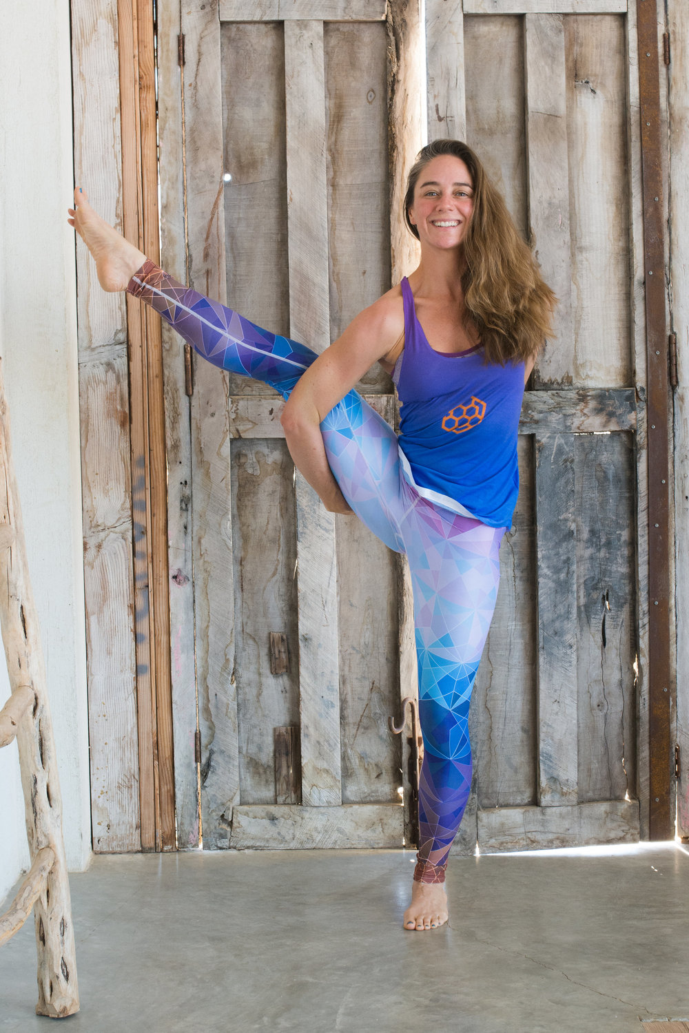 About Casie: - Casie has been practicing yoga and teaching in some capacity for nearly half her life. After graduating from college, Casie hit the ground running as a school teacher and coach, and found yoga at the same time. She had been searching for a healthy, sustainable, non-competitive form of exercise that would balance her years as a collegiate track and field athlete. When she left traditional classroom teaching to help her husband open two restaurants, Apis and Pizzeria Sorellina, Casie discovered she enjoyed being a businesswoman (but NOT the restaurant life!). Enter Nectar Flow Yoga.Casie founded Nectar Flow Yoga in 2016 to serve the small community of Spicewood, Texas with an approachable and friendly space in which to practice mindfulness and healthy movement. Since that time, Nectar Flow has grown to a full-scale studio with a variety of dynamic and experienced teachers and classes. For Casie, this is truly a