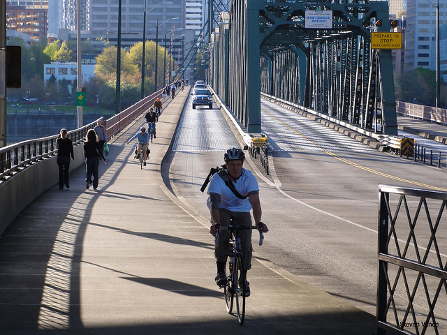 Hawthorne Bridge - connecting the Eastside with the Westside.